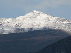 Primeras nieves en Sierra Nevada. Según las gentes del lugar estas nieves tan anticipadas vaticinan un año seco