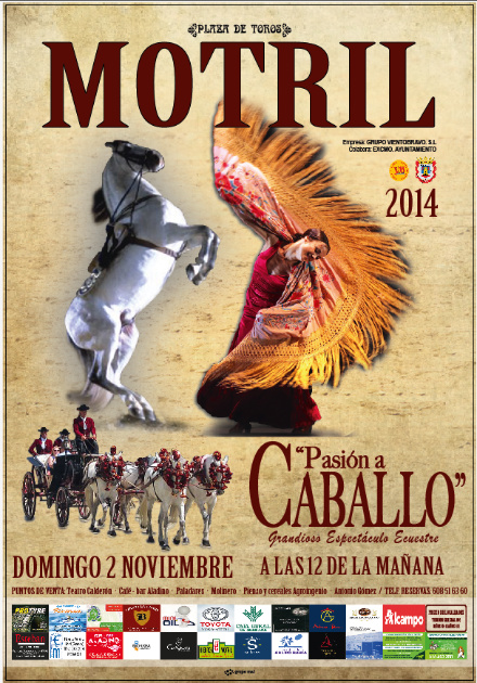 cartel caballos motril